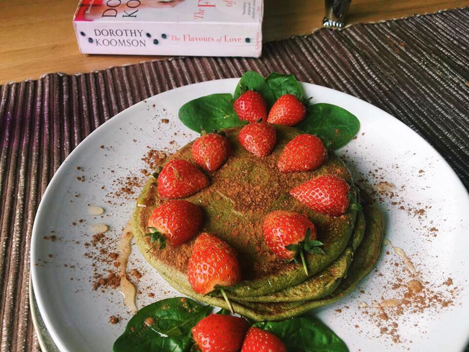 Green Spinach and Oats Pancakes