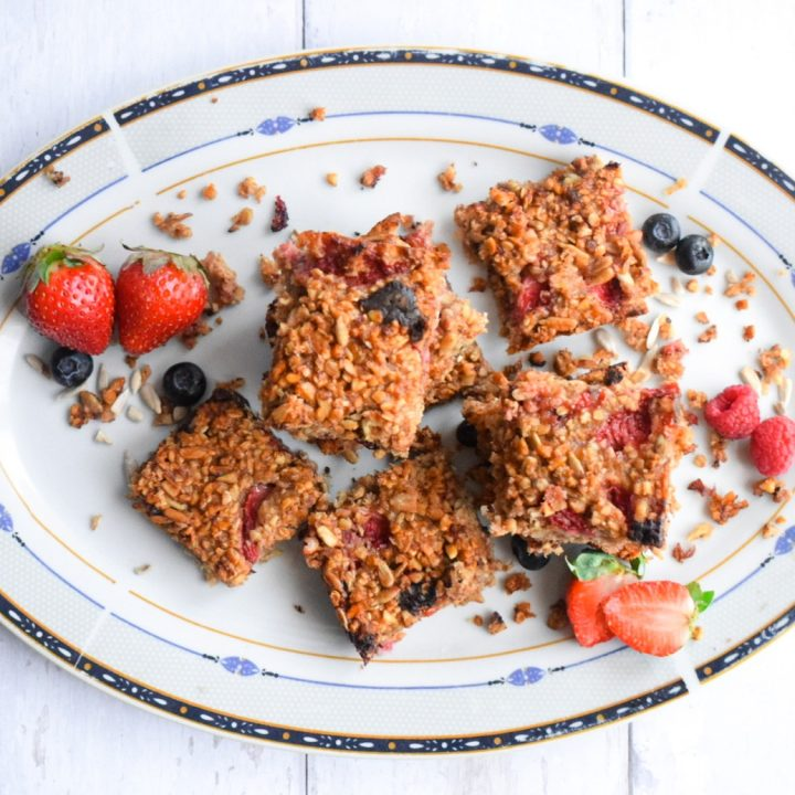 Healthy Strawberry Flapjacks