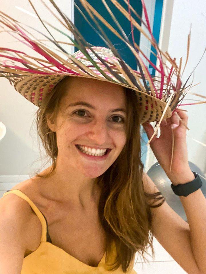 Odara in her hat