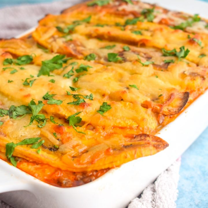 Plantain And Spinach Lasagna (Pastelón)