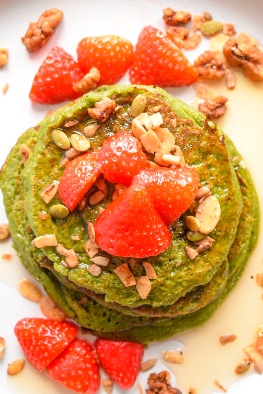 Spinach and oats pancakes
